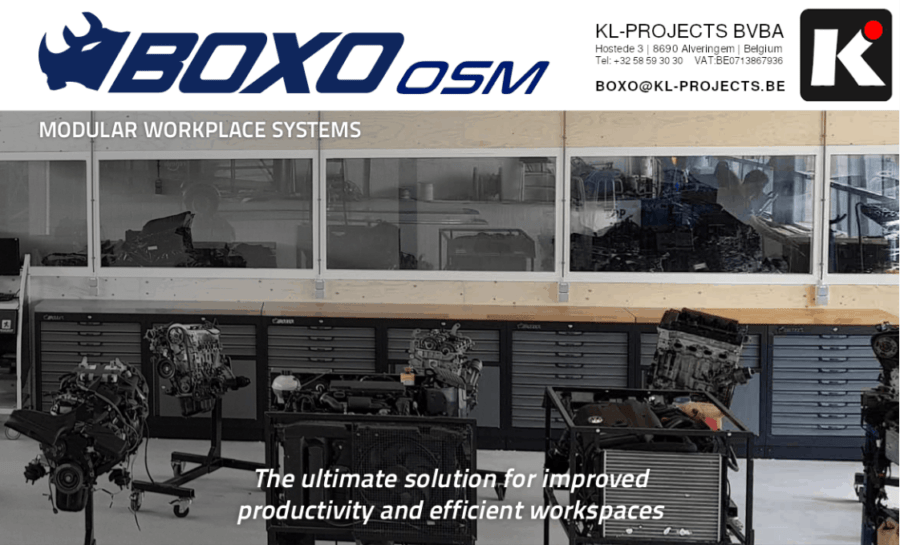 Boxo Organizes Storage Modules: the ultimate solution for improved productivity and efficient workspaces