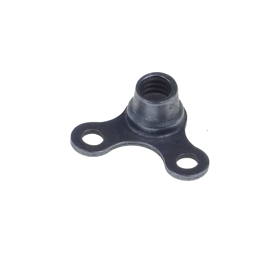 M6x1.0 90° corner fixed anchor nut two lugs