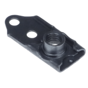 Single lug floating anchor nut or nutplate with one lug and two holes for rivet installation